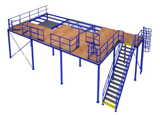 Метална платформа тип Мецанин Mezzanine metal platform PROINSTALL 1