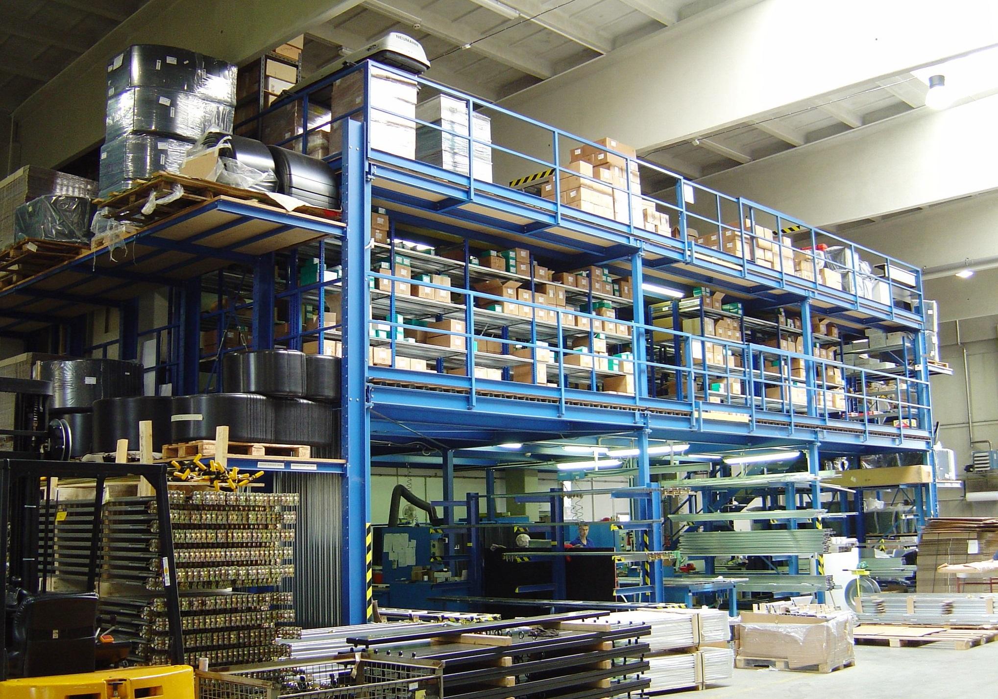 Метална платформа тип Мецанин Mezzanine metal platform PROINSTALL 5