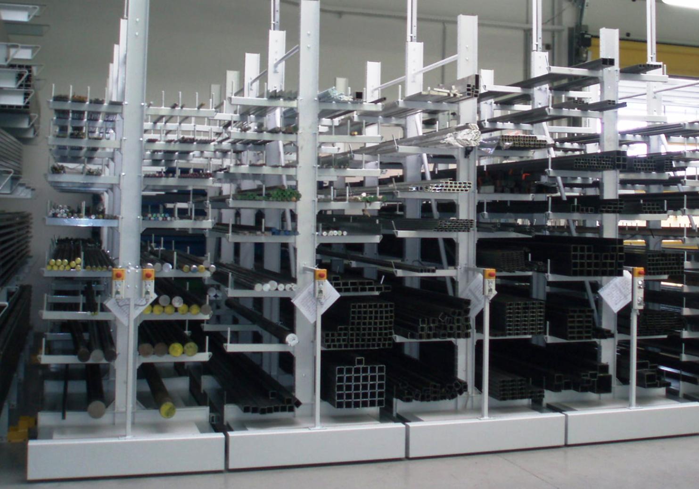 Мобилни конзолни стелажи mobile cantilever racks PROINSTALL 4